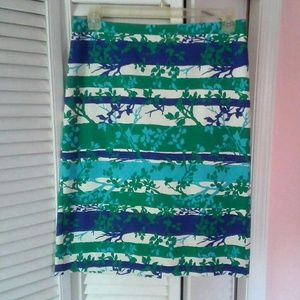 Talbots Blue /Green Straight Skirt